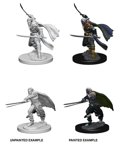 Elf Male Ranger Unpainted Wizkids HD Mini