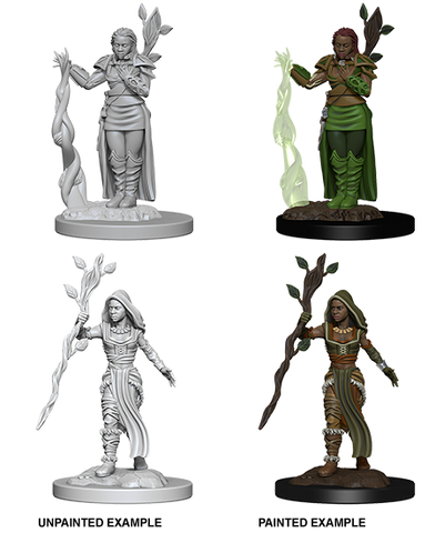 Human Female Druid Unpainted Wizkids HD Mini