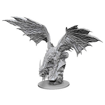 Pathfinder Deep Cuts HD Mini: Silver Dragon (unpainted)