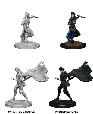Elf Female Rogue Unpainted Wizkids HD Mini