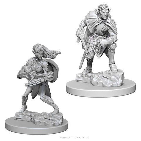 Drow Unpainted Wizkids HD Mini