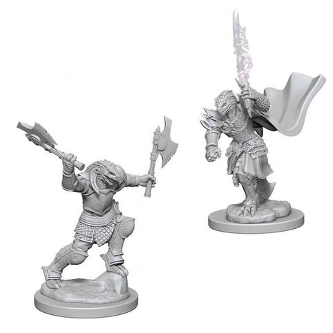 Dragonborn Female Fighter Unpainted Wizkids HD Mini