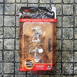Earth Genasi Male Fighter Unpainted Wizkids HD Mini