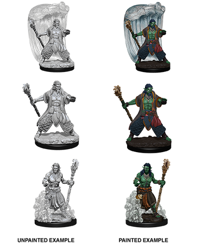 Water Genasi Male Druid Unpainted Wizkids HD Mini