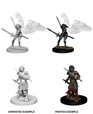 Aasimar Female Paladin Unpainted Wizkids HD Mini