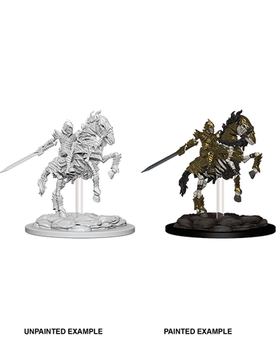 Skeleton Knight on Horse Unpainted Wizkids HD Mini