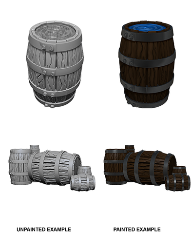 Barrels & Piles of Barrels Unpainted Wizkids HD Mini