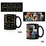 STAR WARS LOGO CHARACTERS HEAT CHANGE MUG