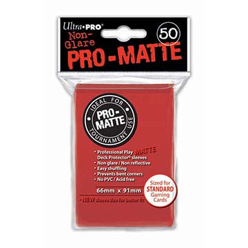 Ultra Pro Red Pro-Matte Deck Protector Sleeves 50ct