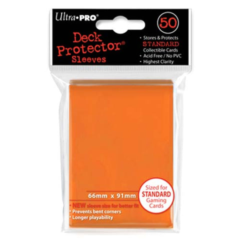 Ultra Pro Orange Standard Deck Protector Sleeves 50 pcs