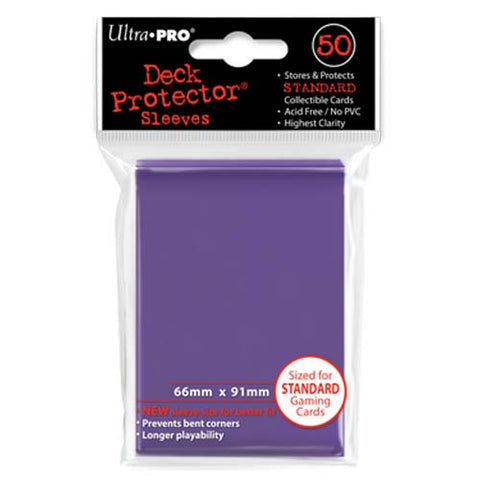 Ultra Pro Purple Standard Deck Protector Sleeves 50 pcs