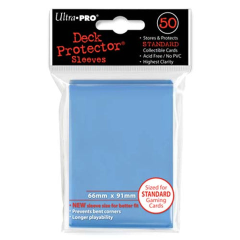 Ultra Pro Light Blue Standard Deck Protector Sleeves 50 pcs