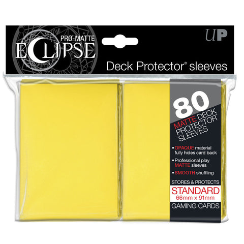 Ultra Pro Eclipse Yellow Pro-Matte Deck Protector Sleeves 80 pcs