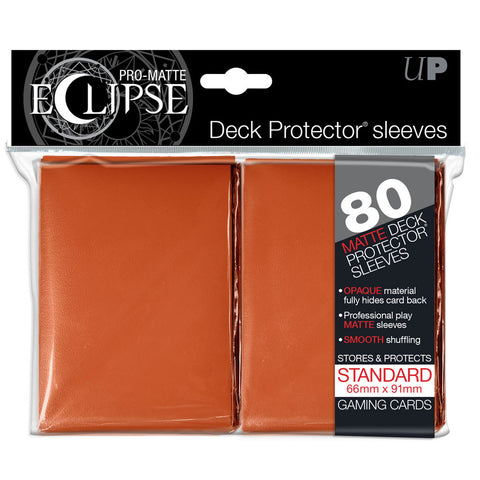 Ultra Pro Eclipse Orange Pro-Matte Deck Protector Sleeves 80 pcs