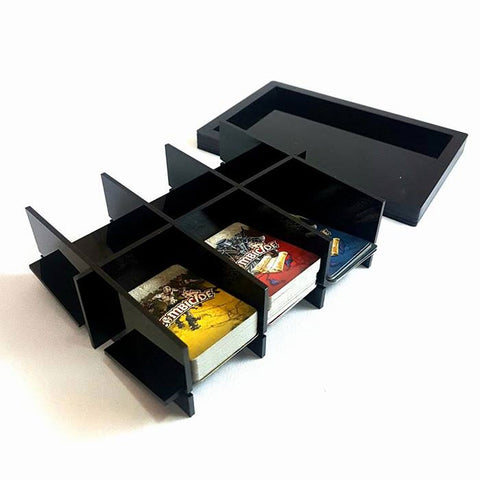 Portable Acrylic Card Holder for Games (Black)