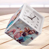 Balvi Rotating Photo Frame and Clock