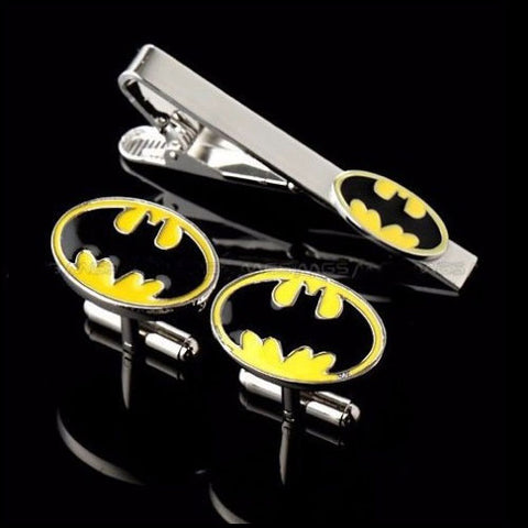 Batman Cufflink and Tie Bar Set Philippines