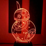 Star Wars BB8 USB LED Acrylic Plate Lamp