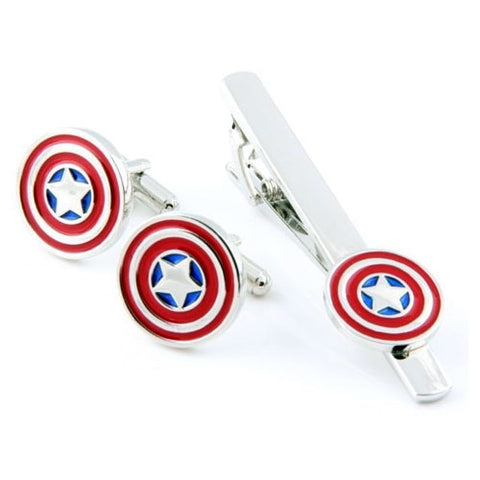 Captain America Cufflink and Tie Bar Set Philippines