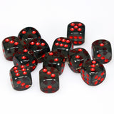 Chessex Smoke with Red d6 Dice 12 pcs