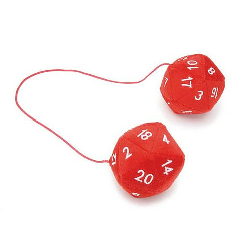 D20 Dice Red Car Plush Danglers