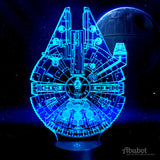 Star Wars Millenium Falcon USB LED Acrylic Plate Lamp