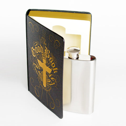 The Good Book Hidden Flask