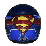 DC Justice League Motorcycle Helmet - Superman