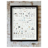 Harry Potter Magical Objects of the Wizarding World Poster