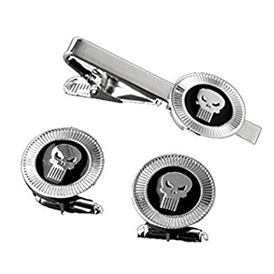 The Punisher Cufflink and Tie Bar Set Philippines
