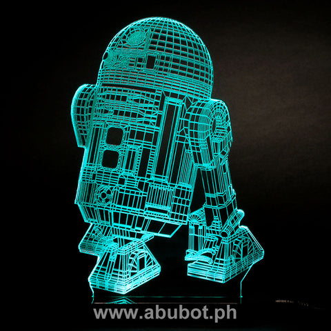 Star Wars R2D2 USB LED Acrylic Plate Lamp