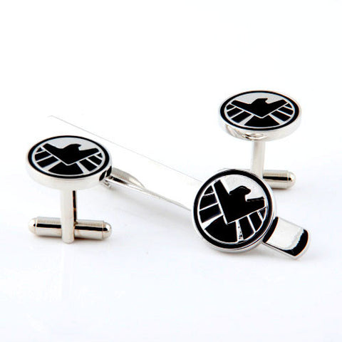S.H.I.E.L.D Cufflink and Tie Bar Set