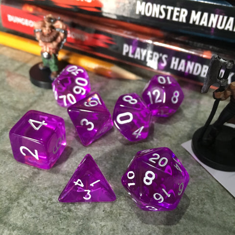 7-pc. Gaming Dice Set (Transparent Series)