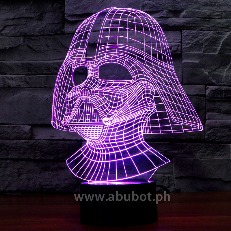 Vader Plate Led Acrylic Star Lamp Wars Usb L543ARj