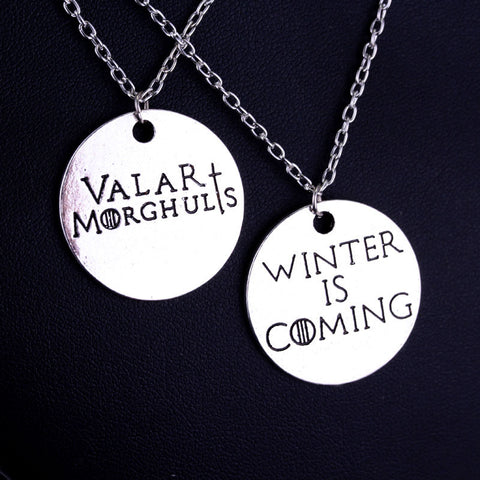 Game of Thrones Valar-Winter is Coming Pair Necklace