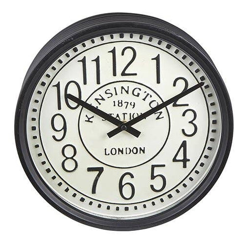 Black And White Round Clock