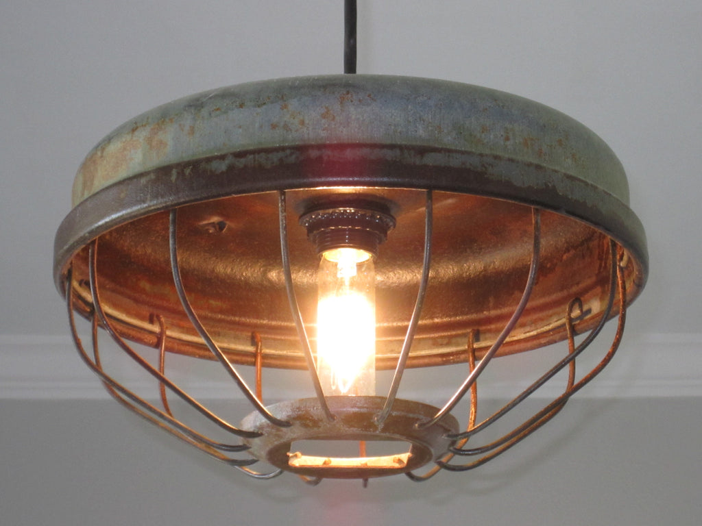 Woodwork Designs chicken feeder industrial pendant light – out of the woodwork designs
