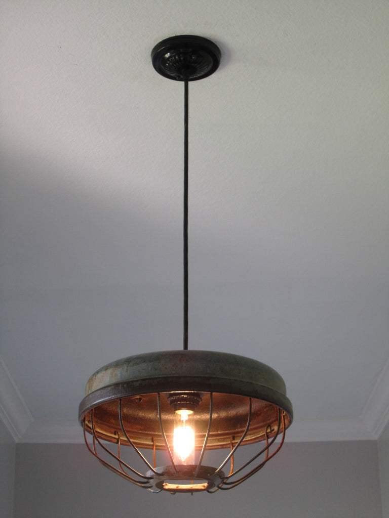 Chicken feeder industrial pendant light out of the woodwork designs chicken feeder industrial pendant light out of the woodwork designs aloadofball Choice Image