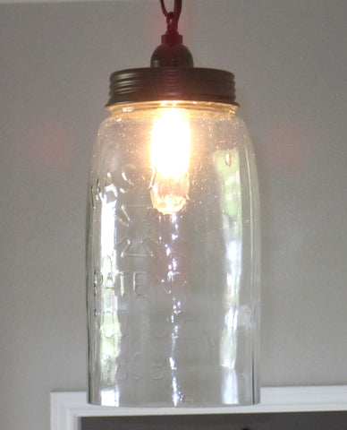 Large Mason Jar Pendant Light - Out of the Woodwork Designs