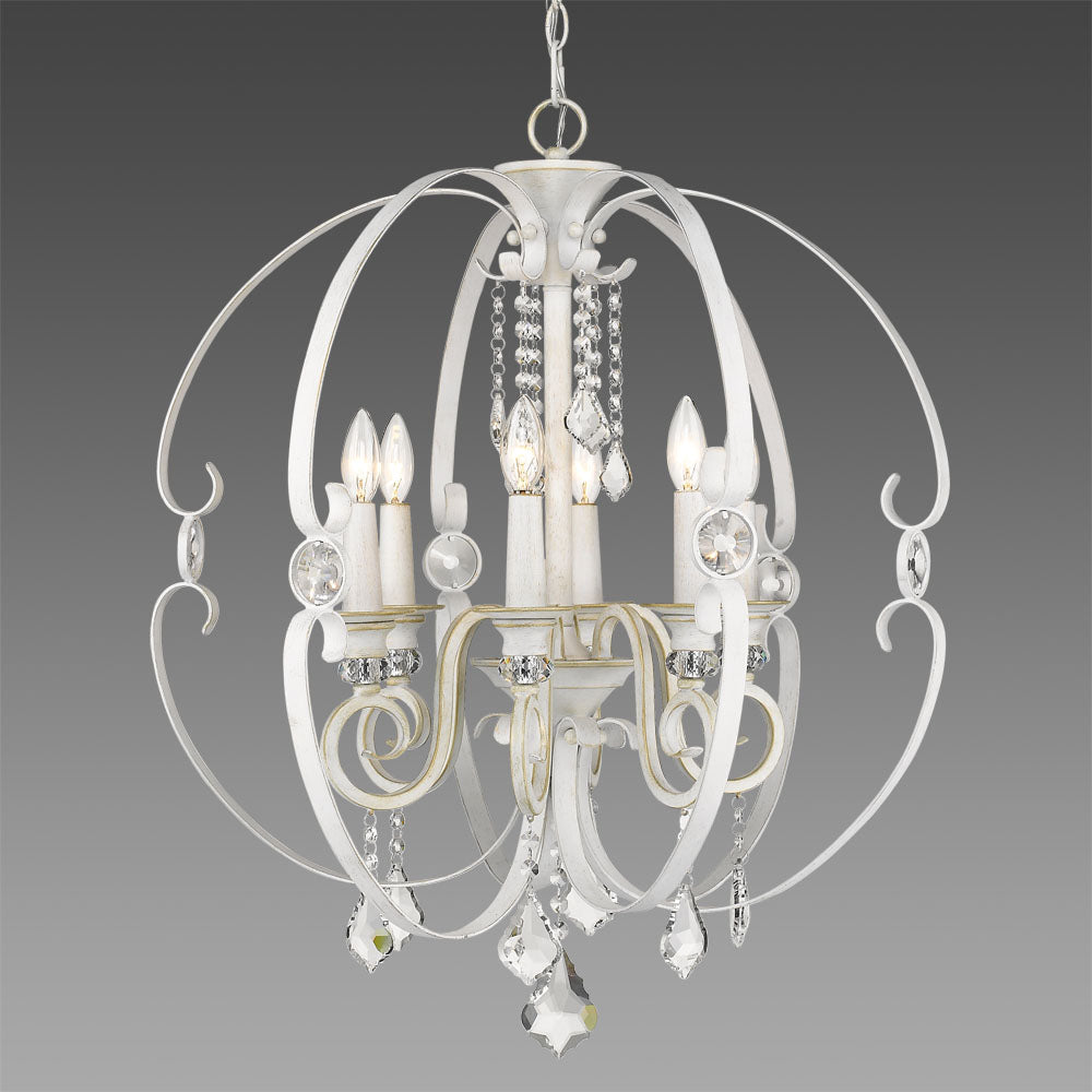Beverly 6 Light Chandelier - Out of the Woodwork Designs
