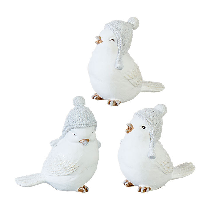 Little White Birds with Hat