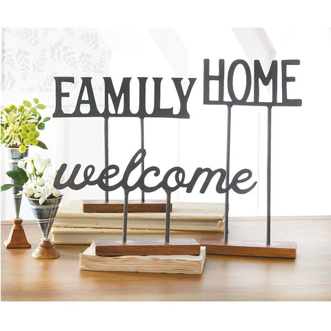 Family Word Metal Sitter - Out of the Woodwork Designs