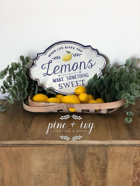 Lemon Metal Wall Decor - Out of the Woodwork Designs