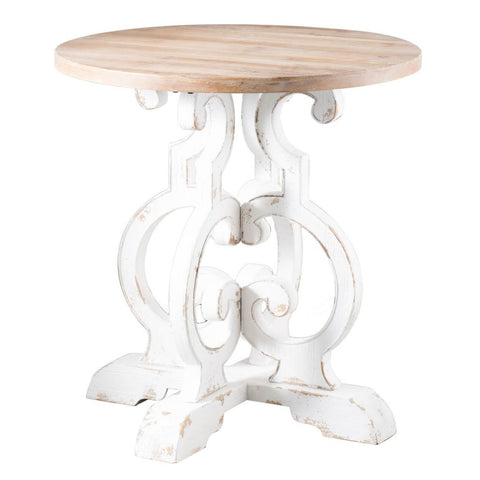 White Scroll Table