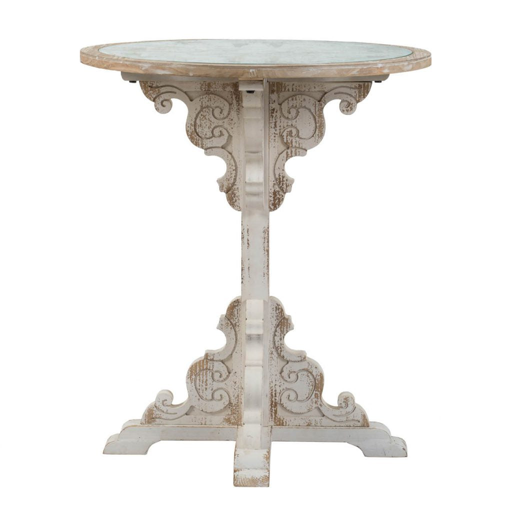 Round Ornate Side Table