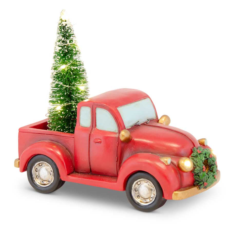 Red Truck with Xmas Tree