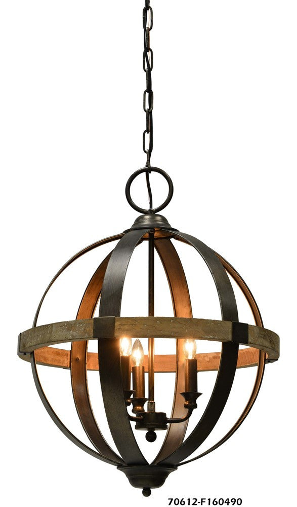 Chandler 3 Light Chandelier - Out of the Woodwork Designs
