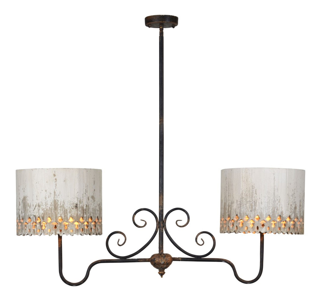 Samantha 2 Light Chandelier* - Out of the Woodwork Designs