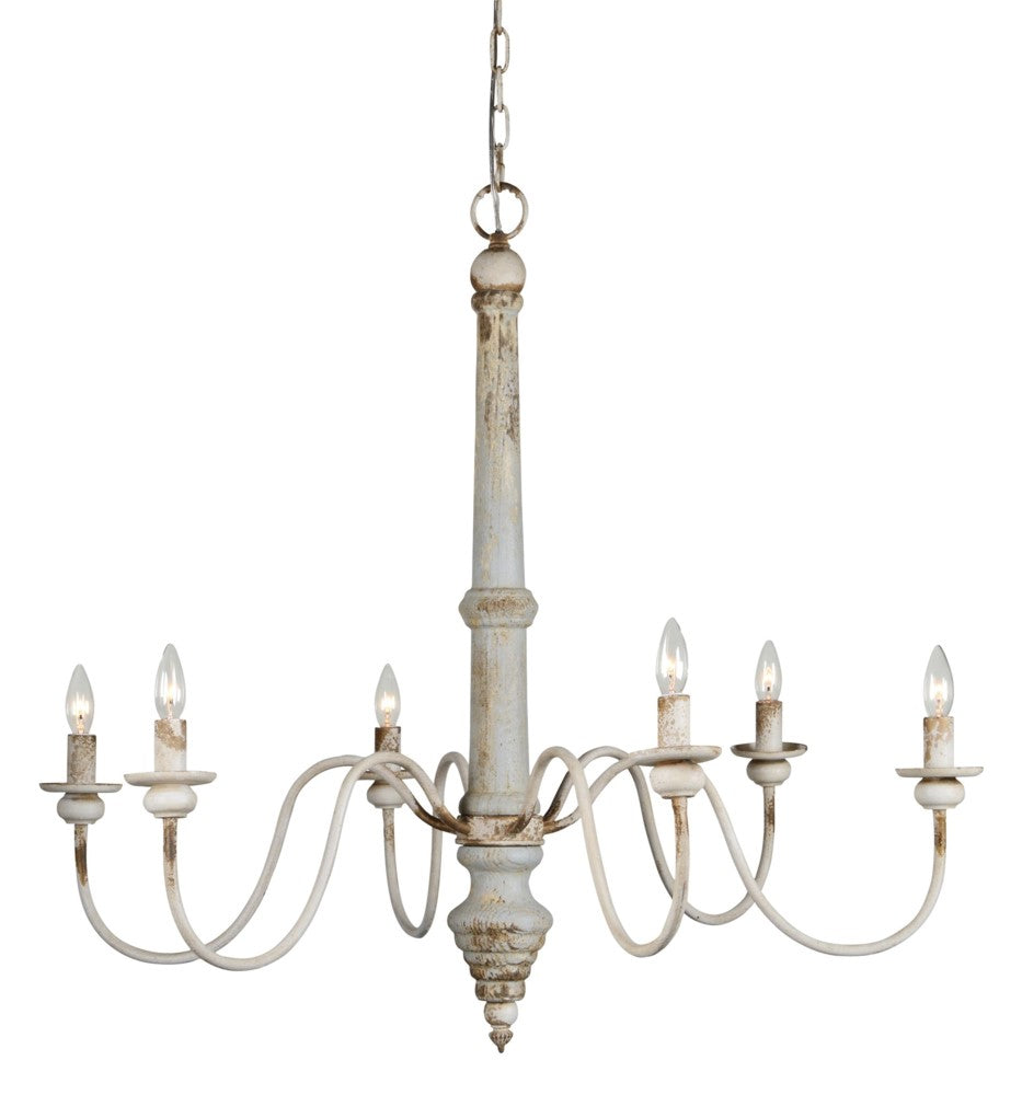 Nora 6 Light Chandelier - Out of the Woodwork Designs