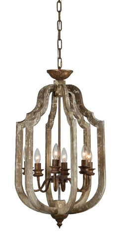 Ivy 6 Light Chandelier - Out of the Woodwork Designs